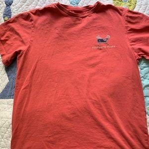 Men's XS Vineyard Vines Coral Lacrosse Shirt